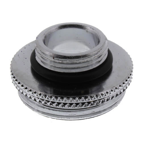 "9/16"" x 55/64"" Male Thread Chrome Aerator Adaptor and O-Ring for Crane & Sterling Faucets Product Image"