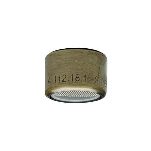 Slotless Antique Brass Female Thread Faucet Aerator w/ Washer, 2.2 GPM Product Image