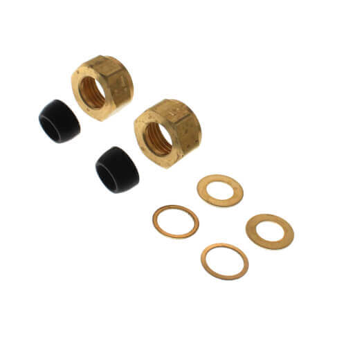 """Faucet Supply Kit w/ 3/8"""" OD Cone Washers & 1/2"""" Nuts Product Image"""