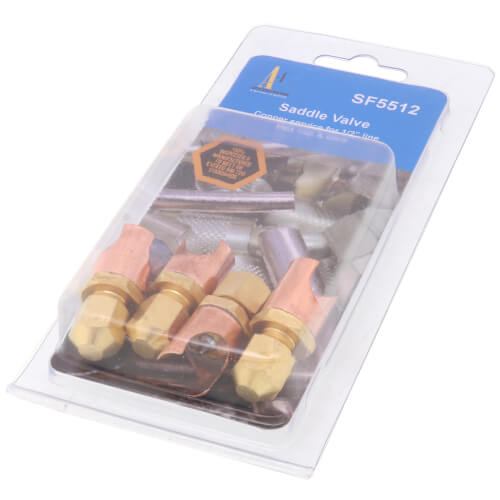 """SF5000 Series Saddle Valve Copper to Copper, 1/2"""" OD (4 Pack) Product Image"""