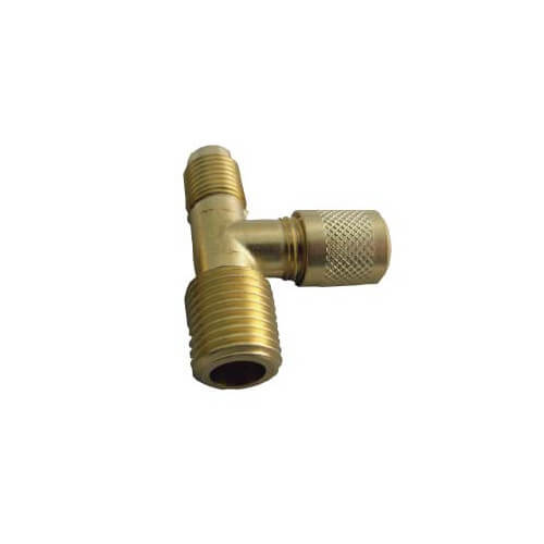 """SF9600 Series 1/4"""" M. Flare x 1/4"""" MPT x 1/4"""" M. Flare Forged Access Tee (2 Pack) Product Image"""
