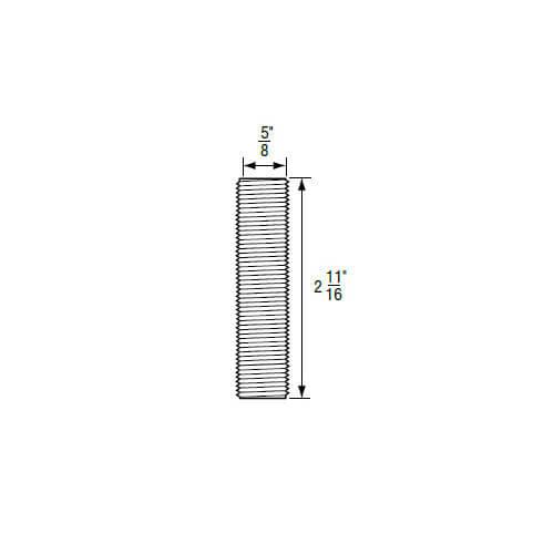 "5/8"" x 2-11/16"" Brass Escutcheon Nipple (24 TPI) for Gerber Product Image"
