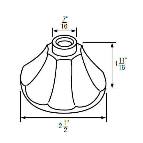 """7/16"""" IPS Chrome-Plated Zinc Escutcheon (2-1/2"""" OD) for American Standard Faucets Product Image"""