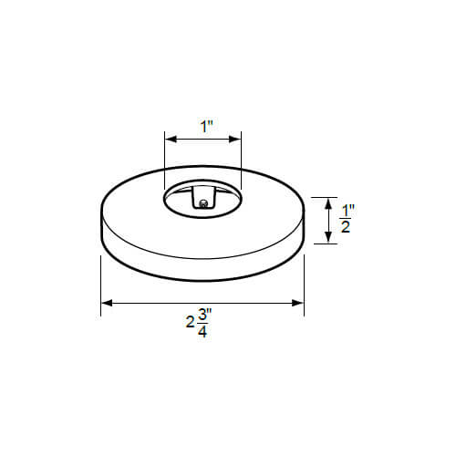 "1"" IPS Chrome-Plated Zinc Escutcheon (2-3/4"" OD) for Savoy Faucets Product Image"
