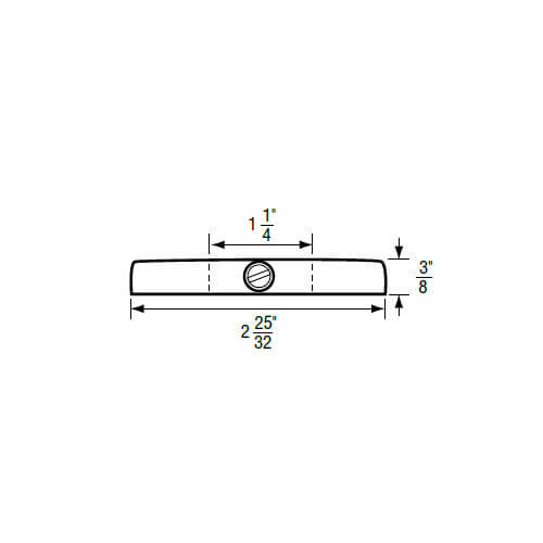 """1-1/4"""" IPS Chrome-Plated Zinc Escutcheon (2-25/32"""" OD) for Sterling Faucets Product Image"""