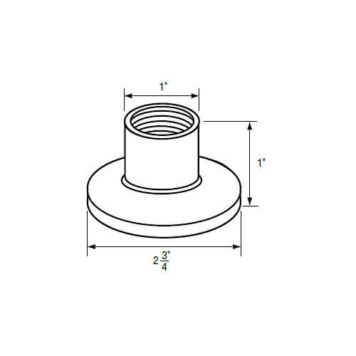 """1"""" IPS Chrome-Plated Plastic Escutcheon (2-3/4"""" OD) for Streamway Faucets Product Image"""