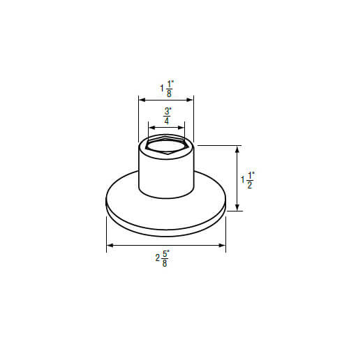 """3/4"""" IPS Chrome-Plated Zinc Escutcheon (2-5/8"""" OD) for Union Brass Faucets Product Image"""