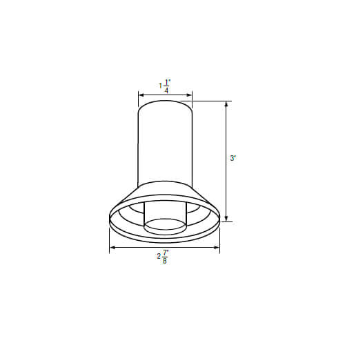 """1-1/4"""" IPS Chrome-Plated Zinc Escutcheon (2-7/8"""" OD) for Harcraft Faucets Product Image"""