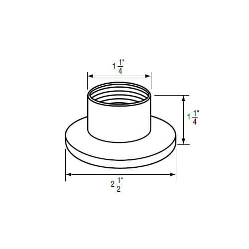 """1-1/4"""" IPS Chrome-Plated Zinc Escutcheon (2-1/2"""" OD) for Kohler/Sterling Faucets Product Image"""