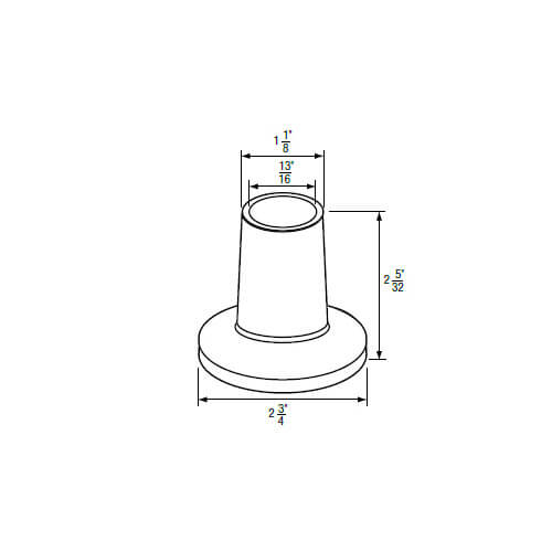 """13/16"""" IPS Chrome-Plated Zinc Escutcheon (2-3/4"""" OD) for Kohler/Sterling Faucets Product Image"""