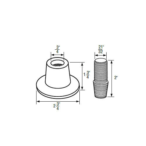 """3/4"""" IPS Chrome-Plated Zinc Escutcheon (2-3/4"""" OD) with Nipple (Universal Fit) Product Image"""