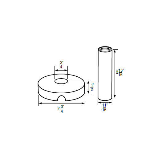 "3/4"" IPS Chrome-Plated Zinc Escutcheon with Sleeve (2-3/4"" OD) for American Standard Faucets Product Image"