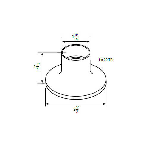 "1-3/16"" IPS Chrome-plated Zinc Widespread Escutcheon (2-1/2"" OD) for Price Pfister Product Image"