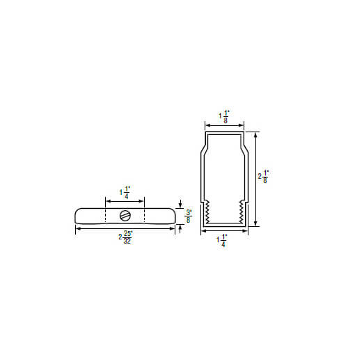 """1-1/4"""" IPS Chrome-plated Zinc Escutcheon with Sleeve (2-25/32"""" OD) for Sterling Faucets Product Image"""