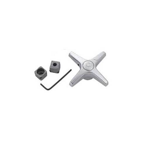 Universal Cross Handles & Adaptor for Lav/Kitchen/Tub/Shower, Pair (Chrome) Product Image