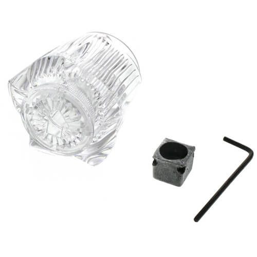 Universal Med. Canopy Diverter Handle & Adaptor for Lav/Kitchen/Tub/Shower (Clear) Product Image