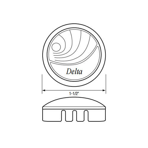 "1-1/2"" Clear New Style Handle Cap for Delta Faucets Product Image"