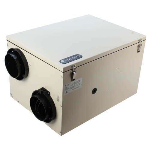 "SHR Series Heat Recovery Ventilator w/ Fan Shutdown Defrost, 6"" Side Ports (up to 5,000 Sq. Ft.) Product Image"