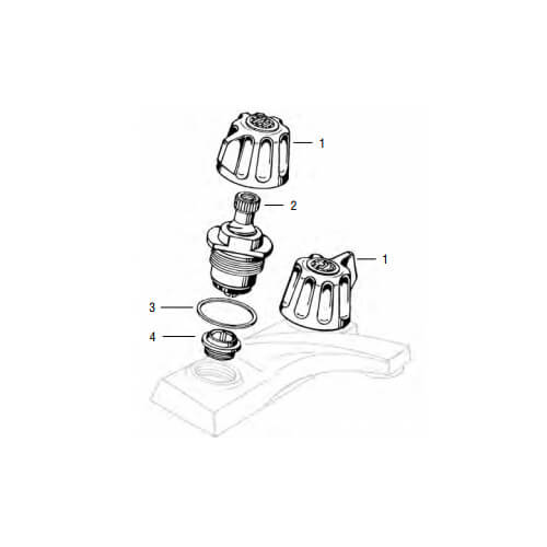 Gerber Centerset Handle Lav/Kitchen Rebuild Kit Product Image