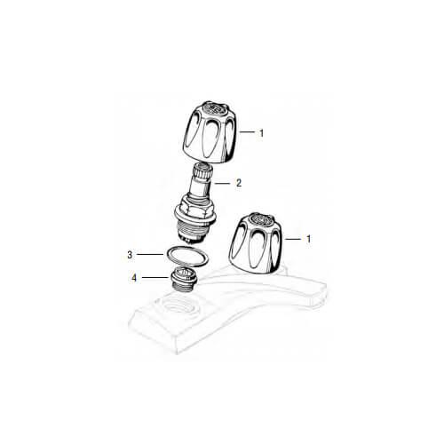 Price Pfister Old Style Verve Lav/Kitchen Rebuild Kit Product Image