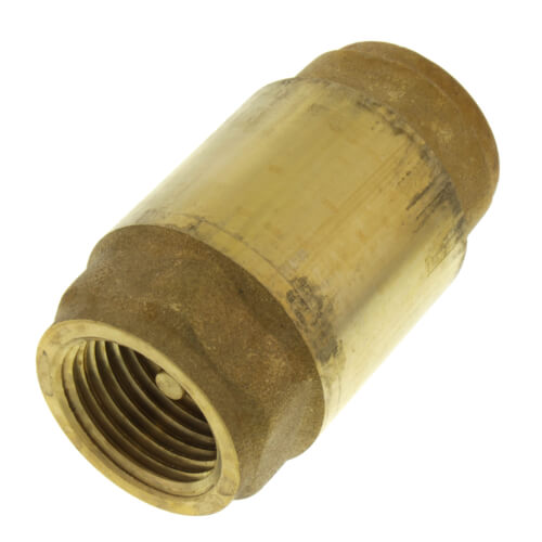"""1/2"""" Threaded Spring Loaded Check Valve, Lead Free Product Image"""