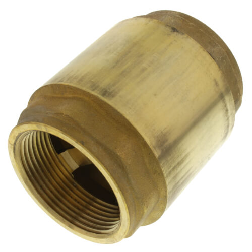 """1-1/2"""" Threaded Spring Loaded Check Valve, Lead Free Product Image"""