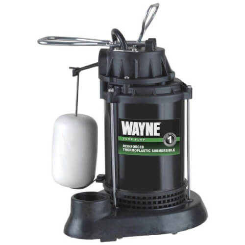 SPF33 1/3 HP, Epoxy Coated Thermoplastic Reinforced Submersible Sump Pump w/ Vertical Float Switch Product Image