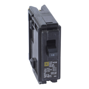 Homeline Single Pole 15A Plug-On Neutral Combination Arc Fault Miniature Circuit Breaker Product Image