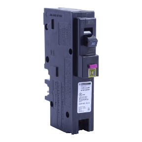 Homeline Single Pole 20A Plug-On Neutral Neutral Dual Function (CAFCI and GFCI) Circuit Breaker Product Image