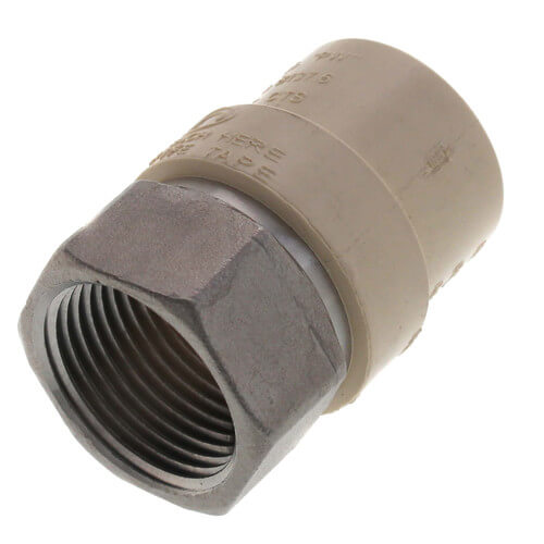"3/4"" CPVC x Female Stainless Steel Adapter (Lead Free) Product Image"