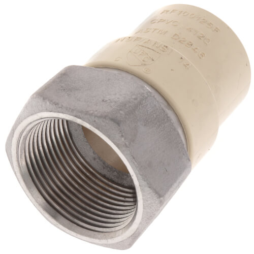 "1-1/4"" CPVC x Female Stainless Steel Adapter (Lead Free) Product Image"