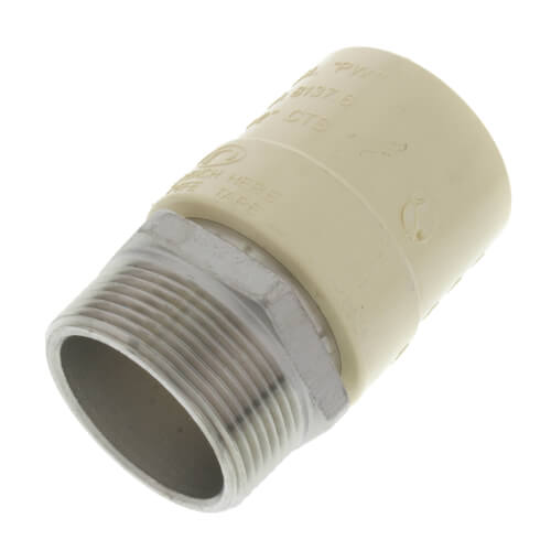 """1-1/2"""" CPVC x Male Stainless Steel Adapter (Lead Free) Product Image"""