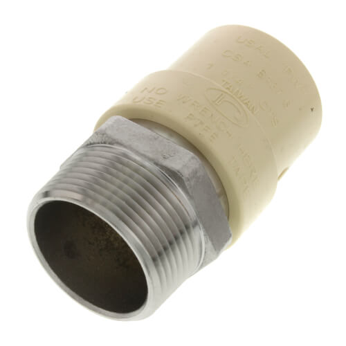 "1-1/4"" CPVC x Male Stainless Steel Adapter (Lead Free) Product Image"