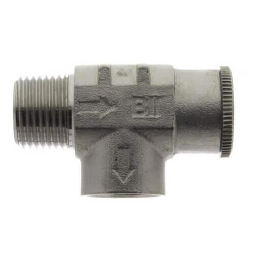 """3/4"""" x 1/2"""" Stainless Steel Relief Valve, Non-Adjustable, 100 PSI (Lead Free) Product Image"""
