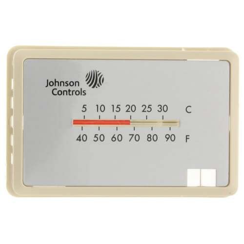 Beige Thermostat Cover Plate Assembly,Exposed setpoint, with °F/°C thermometer (Horizontal Mount) Product Image