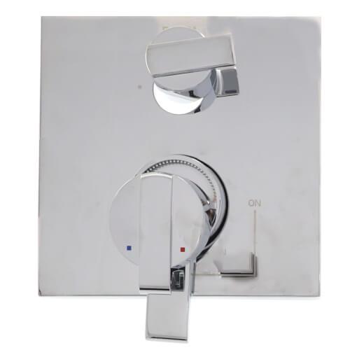 Angular Modern Monitor 17 Series Valve Trim w/ 3-Setting Integrated Diverter Product Image