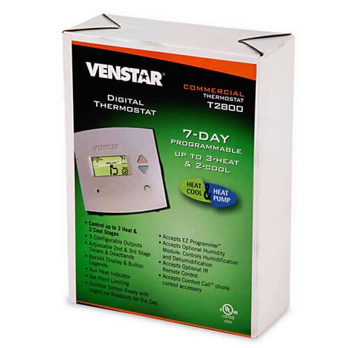 t2800 venstar t2800 venstar t2800 7 day programmable digital rh supplyhouse com Venstar T2800 Troubleshooting Venstar T2800 Holiday