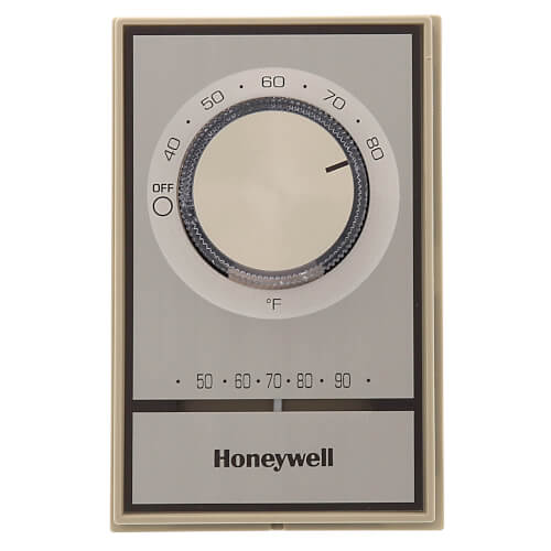 T498 Gold Electric Heat Thermostat, w/ Pos Off & Range Stops  Old Honeywell Thermostat Wiring Diagram on