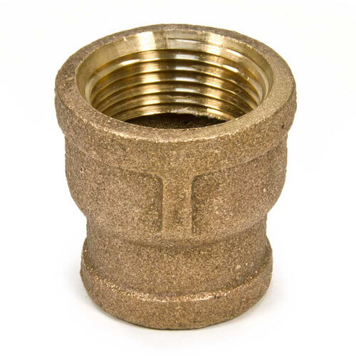 "3/4"" x 1/2"" FIP Brass Coupling (Lead Free) Product Image"