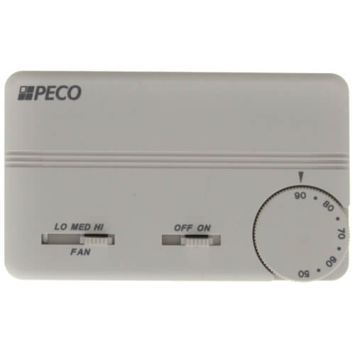 3 Speed Fan Coil On/Off Programmable Thermostat w/ Terminal Block & 2 Covers (White) Product Image
