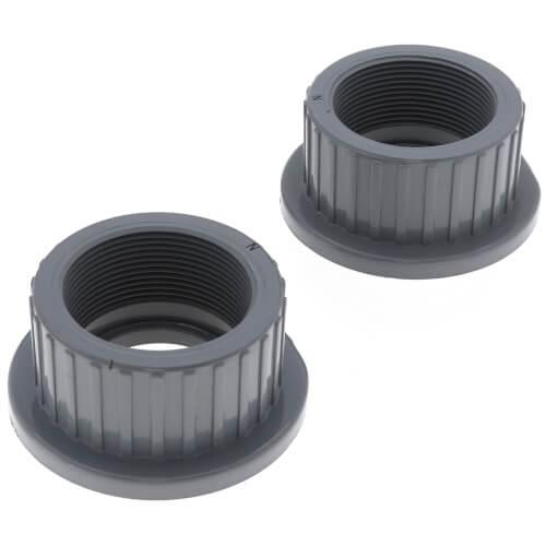"2"" CPVC TBB Series True Union Ball Valve w/ EPDM O-Ring - Gray (Socket x Threaded) Product Image"