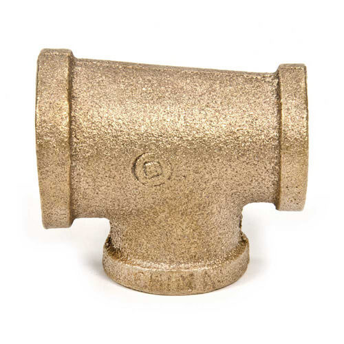 """3/4"""" x 1/2"""" x 1/2"""" FIP Brass Tee (Lead Free) Product Image"""