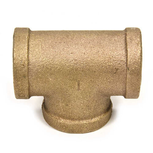 "1"" x 3/4"" x 1"" FIP Brass Tee (Lead Free) Product Image"