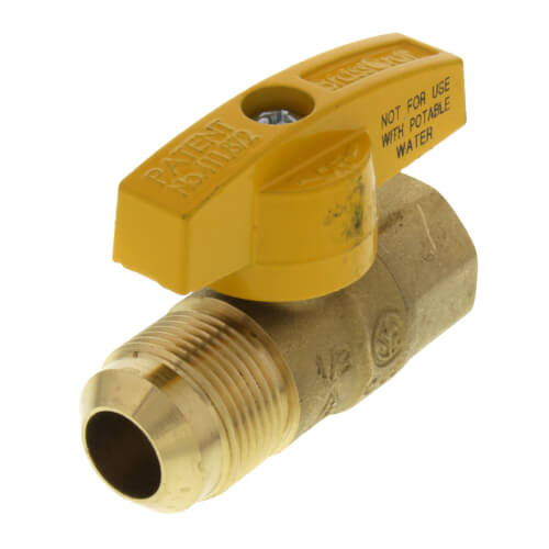 """5/8"""" OD Flare (15/16-16 Thread) x 1/2"""" FIP Gas Ball Valve Product Image"""
