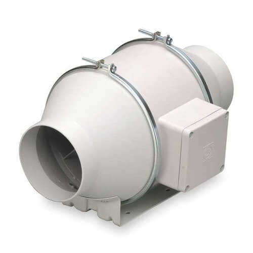 "TD-MIXVENT 5"" Mixed Flow Duct Fan (120V, 2146 RPM, 38W) Product Image"