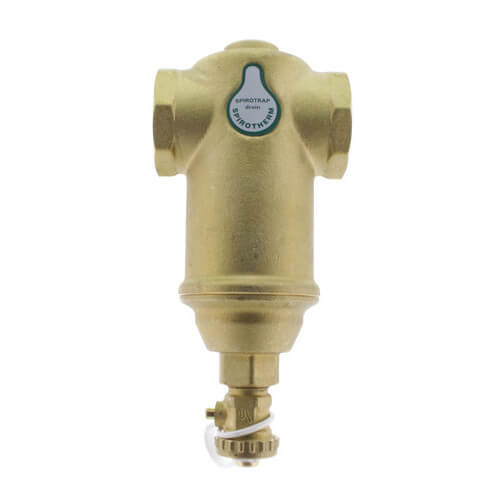 "1-1/4"" Spirotrap Drain Brass Dirt Separator with removable head (Female Thread) Product Image"