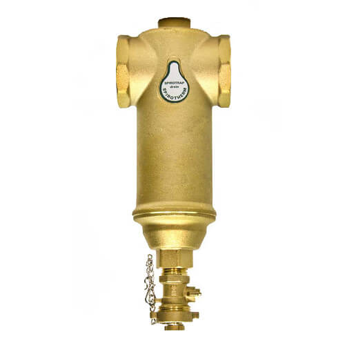 """1-1/2"""" Spirotrap Drain Brass Dirt Separators with removable head (Female Thread) Product Image"""