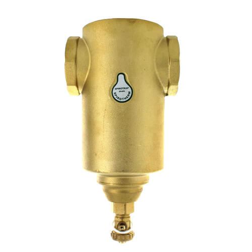 """2"""" Spirotrap Drain Brass Dirt Separator with removable head (Female Thread) Product Image"""