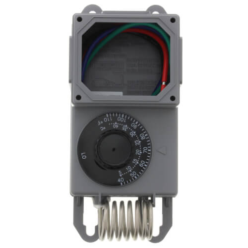 Line Volt Mechanical Thermostat w/ Stainless Steel Bulb (40°F - 110°F)
