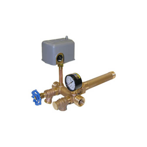 "1-1/4"" x 13"" MPT Union Brass Tank Tee Package, 30-50 PSI (Lead Free) Product Image"